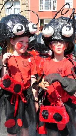 Lady and Gentbird costumes, Beaminster Big Day 2013